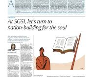 At SG51, let's turn to nation-building for the soul